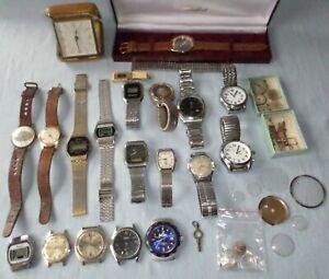 Vintage Watches and Parts Job Lot - Spares or Repair - Buler, Roamer, Orbit etc