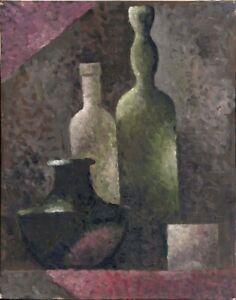 """Anatoliy Chudinovskikh Expressionist """"Flaschen"""" Öl Leinwand 50x40 cm"""