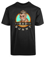 Bad Bunny Guy with Glasses New Men's Shirt Funny Faces Humor Stylish Printed Tee