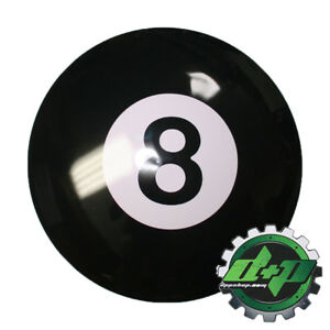 """15"""" Domed Tin Metal Sign 8 Ball wall decor pool sport party eight ball black"""