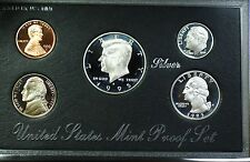 1995-S U.S. Mint Complete SILVER Premier Proof Set Gem Coins with Box and COA