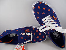 VANS Authentic MLB New York Mets Blue Skateboarding Shoes Men's Sz 10 New In Box