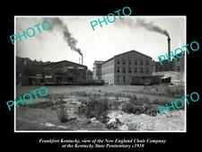 Old Large Historic Photo Of Frankfort Kentucky, New England Chair Co c1910