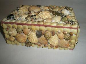 Vintage Antique Maritime Sea Shell Sailors Valentines Box