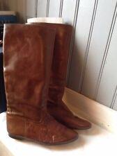 bottes cavalières vintage plein cuir roux . t 38. (SB38/V/F)