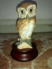 Kaiser West German Porcelain Owl 532 Hand Painted with Stand #970 of 3000