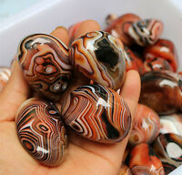 3PCS Madagascar Banded Agate  Tumbled Beautiful Patterns Randomly Send
