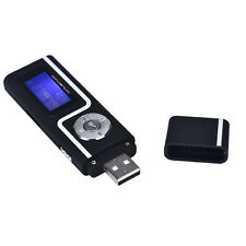 Portable USB MP3 Music Player LCD Screen Support 16GB TF Card Black