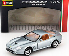 BBURAGO 18-26004 FERRARI 550 MARANELLO 1/24 DIECAST MODEL CAR GREY