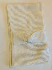 KATE SPADE New York $78 cream Solid Bow Muffler Wrap Around Scarf