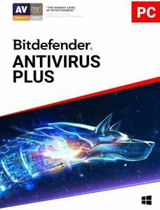 BITDEFENDER ANTIVIRUS PLUS 2021 - 5 PC 1 YEAR - INCLUDES 200 MB VPN - DOWNLOAD
