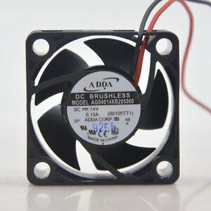 ADDA 4020 14V 0.15A AG04014XB205000 2-PIN Double Ball Switch 1U 2U Chassis Fan
