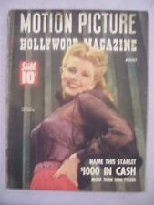 MOTION PICTURE HOLLYWOOD MAGAZINE AUGUST 1943 NAME THIS STARLET DELORES MORAN