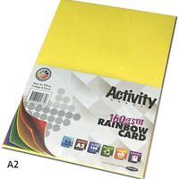 A2 Coloured Craft Card 25 Sheets card making craft printer 160gsm