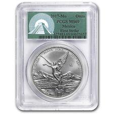 2017 Mexico 1 oz Silver Libertad MS-69 PCGS (FS Green Label)