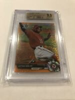 2017 BOWMAN CHROME ORANGE SHIMMER REFRACTOR VICTOR ROBLES RC /25 BGS 9.5 GEM