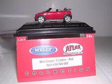 """ATLAS #30 000 062  Mini-Cooper S Cabrio """"Red""""  H.O.Scale 1/87"""