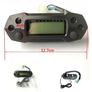 Motorcycle Speedometer Digital Odemeter Electric Injection Carburetor Meter LCD