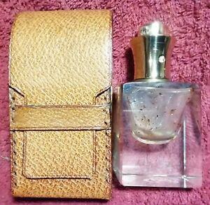 Ancien Flacon Parfum Étui STEP France VIEUX ROMEN Cristal Pulvérisateur Beauté