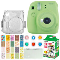 Fujifilm Instax Mini 9 Instant Film Camera (Lime Green) + Instax 20 - Deluxe Kit