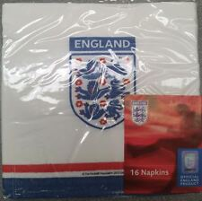 Pack of 16 England Napkins Serviettes Party St George World Cup Servietes New