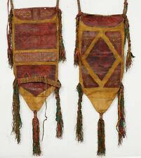 Antike Tuareg Sahara Beduinen Ledertasche Wanddekoration Tuareg Leather Bag (M)