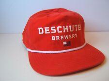 Deschutes Brewery USA Flag Hat Red Snapback Rope Baseball Cap