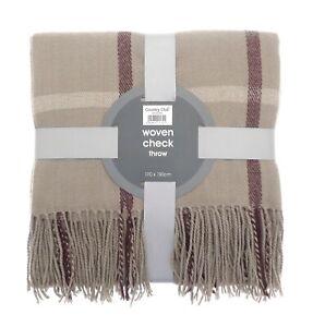 Blanket Throw woven tartan throw soft warm bed sofa throw travel blanket 170x130