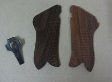 WW2 German Luger P08 Pistol Wooden Hand Grips w/ Stripping Take Tool Repro