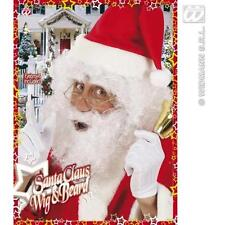 White Santa Claus Curly Wig Beard & Eyebrows Fancy Dress Father Christmas
