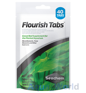 Seachem Flourish Tabs Pack of 40 Aquarium Plant Supplement