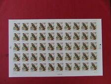 1991 AMRICAN KESTREL 50 1 cent US Postage Stamps MINT MNH /Sheet