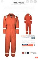 Big Bill Men's FR Flame Resistant Coveralls Suit Red Reflective Size 52 Tall NEW