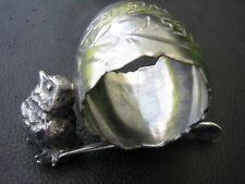 Antique Figural Napkin Ring, Bird on Wishbone, Silverplate