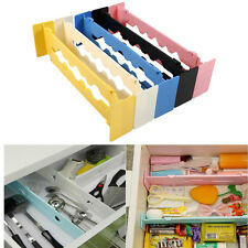 Expandable Drawer Dividers Plastic Clapboard Wardrobe DIY Storage Organiser BT