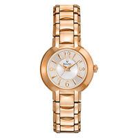 Bulova Women's Quartz Silver Dial Rose Gold-Tone Bracelet 27mm Watch 97L122