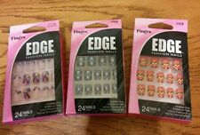 Fingrs edge pack fashion 24 count nails 31618  (lot of 3) NIP free Shipping