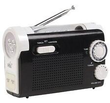 RADIO AM FM PORTABLE AVEC DYNAMO ET LAMPE TORCHE 9 LED + CHARGEUR POUR TELEPHONE