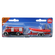 SIKU Unimog Fire Engine With Boat 1 87 1636