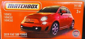Matchbox 2019 Fiat 500 Turbo Red 2021 New Release