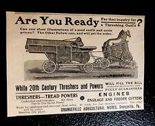 1902 Orangeville Agricultural Works Farm Engraving Advertising - Pennsylvania