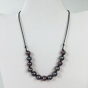 Handmade Tahitian Cultured Pearl Necklace Peacock 9mm