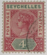 Travelstamps: 1892 SEYCHELLES STAMPS SG#10, Used, Ng, 4cents, Light Cancel
