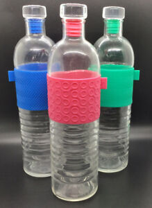 """Ello Reusable Recyclable Glass Water Bottles 3 Colors 16 Oz - 10"""" Tall By 2 5/8"""""""