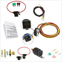 Autos Single Electric Engine Cooling Fan Wiring Harness Install Kit 40AMP Relay