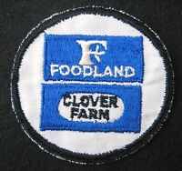 CLOVER FARM EMBROIDERED SEW ON PATCH FOOD LAND MILK UNIFORM ADVERTISING 3 1/2""