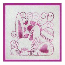 1104:  Machine Embroidery Designs - Easter Blocks - Redwork