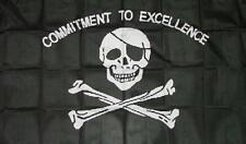 Fahne Flagge Pirat Commitment to Excelense 90 x 150 cm