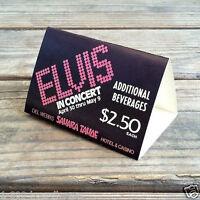 2 Original ELVIS PRESLEY in Concert 1970s TAPLE TOP TRIPODS Sahara Tahoe Casino