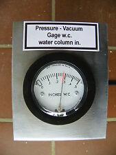 STATIC PRESSURE VACUUM GAGE, Magnehelic, CORN WOOD PELLET STOVE INSERT FURNACE